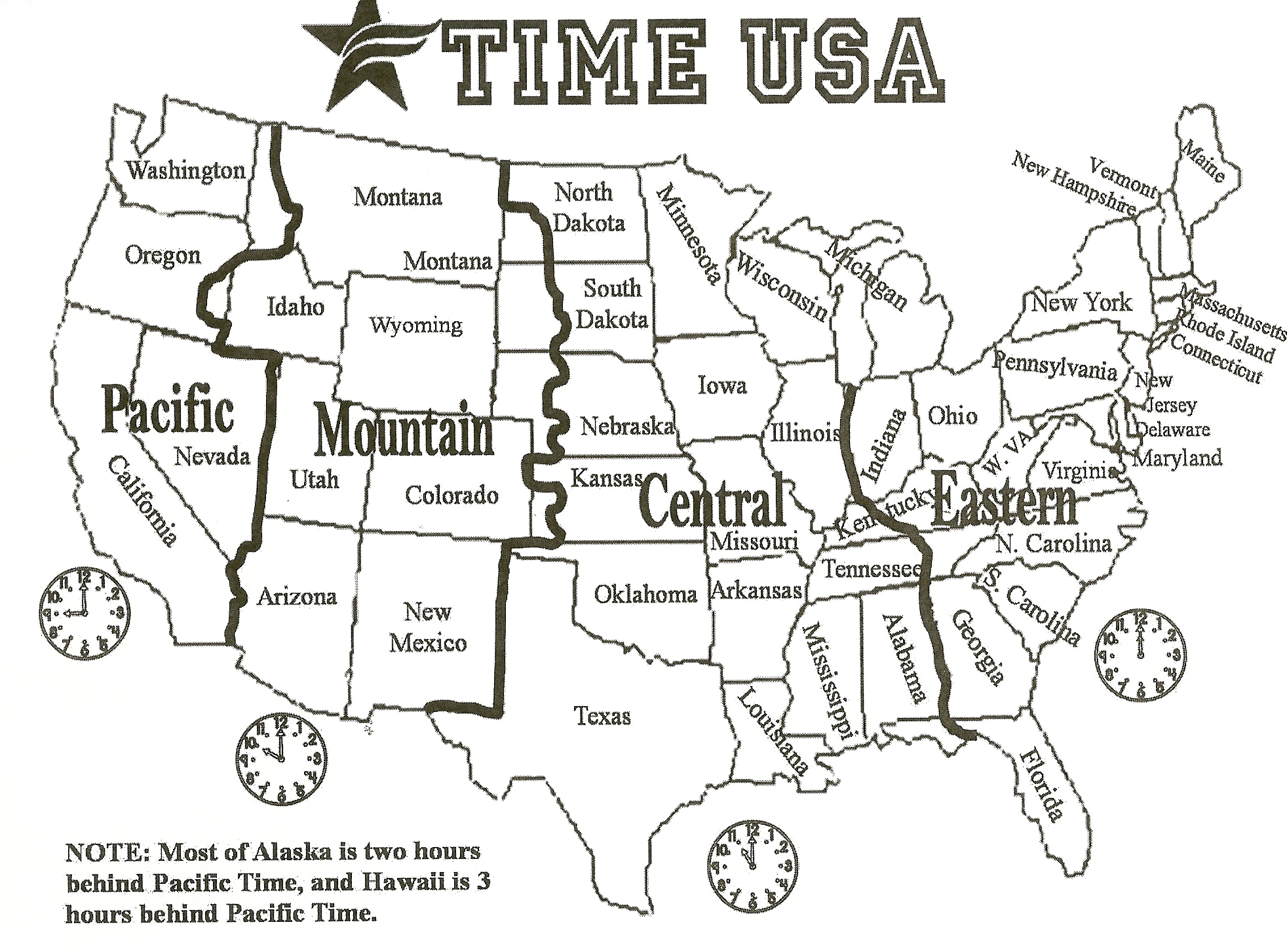 Geography Blog US Maps Time Zones - Map of us time zones